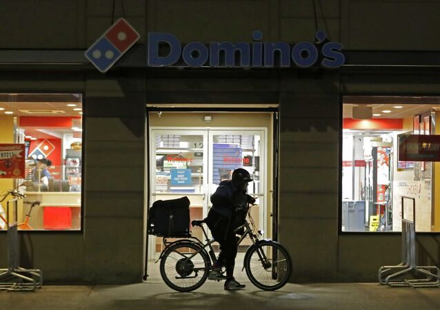 ABD'nin Seattle şehrindeki bir Dominos pizza restoranı