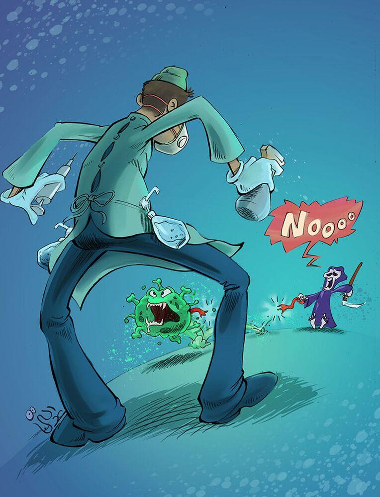 Kanadalı ressam Peyman Edalati'nin çizdiği karikatür.