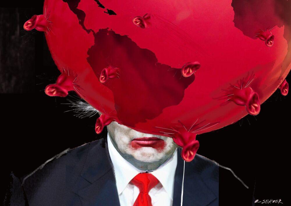 Belçikalı ressam Luc Descheemaeker'in çizdiği karikatür.