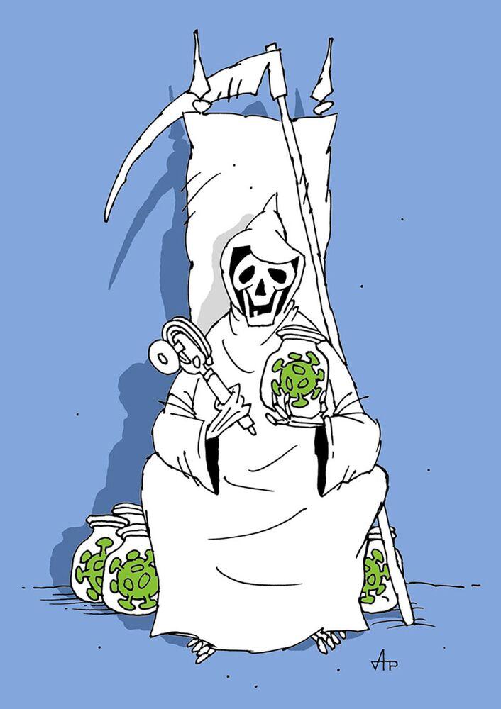 Rus sanatçı Anatoliy Radin'in festivale sunduğu karikatür.