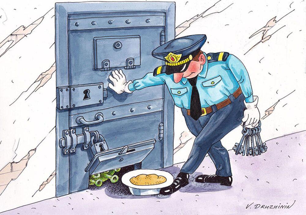 Rus karikatürist Valentin Drujinin'in eseri.