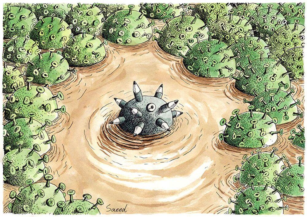 İranlı karikatürist Saeed Sadeghi'nin eseri.