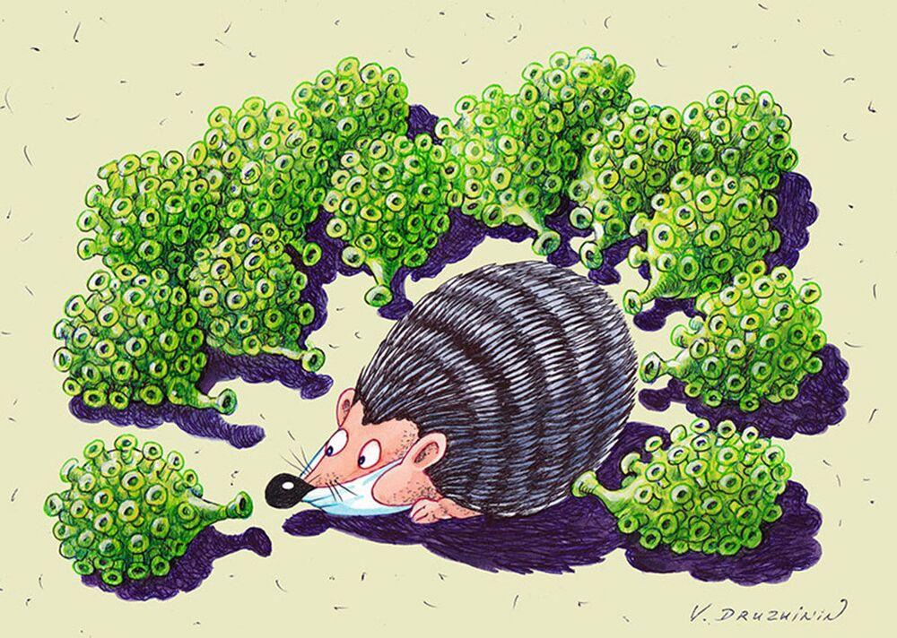 Rus karikatürist Valentin Drujinin'in festivale sunduğu eser.