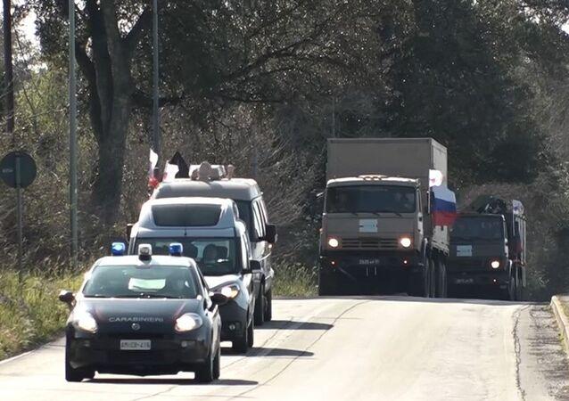 Rus askeri uzmanlar, İtalya'nın Bergamo kentine ulaştı