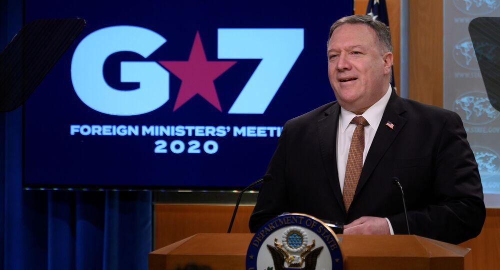 Sanal G7 dışişleri bakanları toplantısının ardından basın toplantısı düzenleyen Mike Pompeo, eleştirilen 'Vuhan virüsü' terimini birçok kez kullandı.