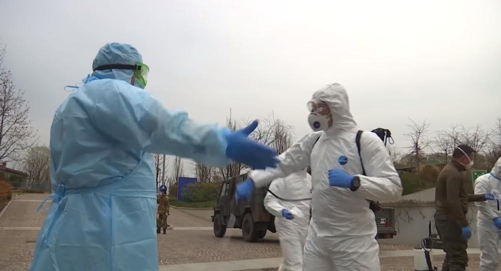 Bergamo'ya giden Rus askeri doktorlar