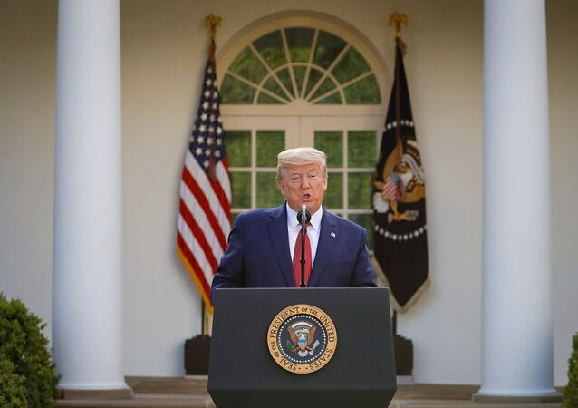 U.S. President Donald Trump speaks during a news conference in the Rose Garden of the White House in Washington, U.S., March 29, 2020. REUTERS/Al Drago