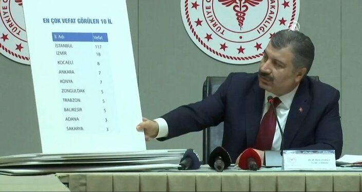 Sağlık Bakanı Koca, koronavirüse dair il il verileri açıkladı.
