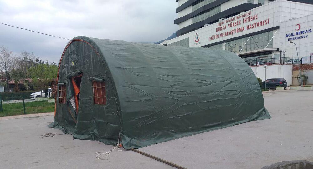 Triaj çadırları - Bursa