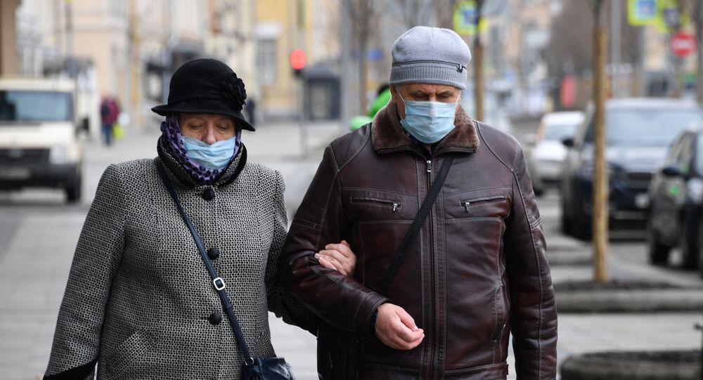 maske - koronavirüs - Rusya - Moskova