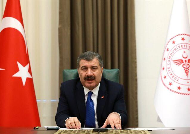 Sağlık Bakanı Fahrettin Koca, Koronavirüs Bilim Kurulu toplantısına video konferans ile katıldı.