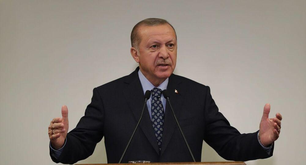 Türkiye Cumhurbaşkanı Recep Tayyip Erdoğan, Huber Köşkü'nde basın toplantısı düzenledi.