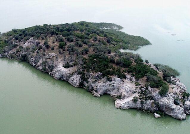 Uluabat Gölü'ndeki 45 dönümlük ada