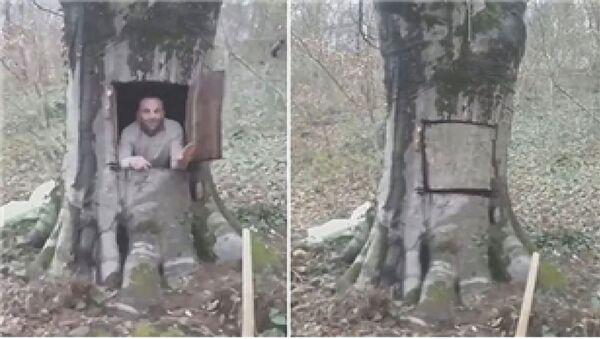 Samsun Orman İşletme Müdürlüğü, Samsun'un Ayvacık ilçesinde koronavirüsten korunma gerekçesiyle ağaçta açtığı kovuğa giren 38 yaşındaki İlkay Gümüşsu hakkında yasal işlem başlattı. - Sputnik Türkiye
