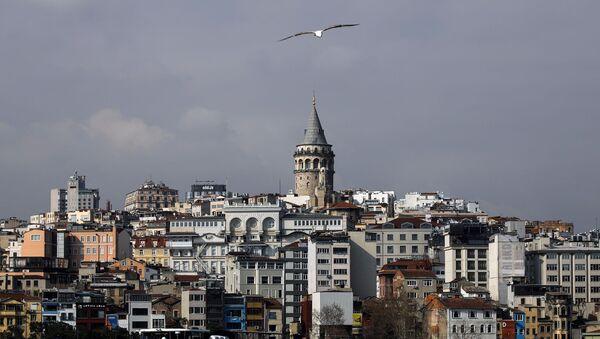 Koronavirüs salgınında Galata Kulesi, İstanbul - Sputnik Türkiye