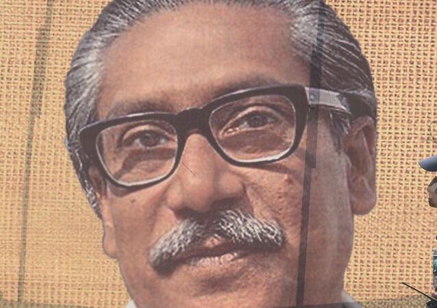 Bangladeş'in kurucu Cumhurbaşkanı Şeyh Bangabandhu Mucibur Rahman