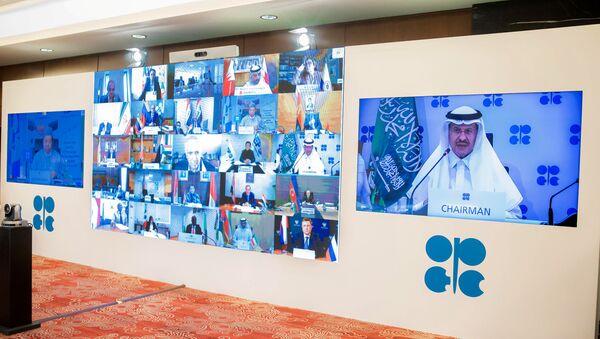 Petrol İhraç Eden Ülkeler Örgütünün (OPEC)10'uncu Olağanüstü Bakanlar Toplantısı telekonferans aracılığıyla başladı. - Sputnik Türkiye
