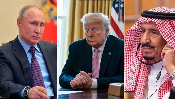 Putin -Trump -Kral Selman - Sputnik Türkiye