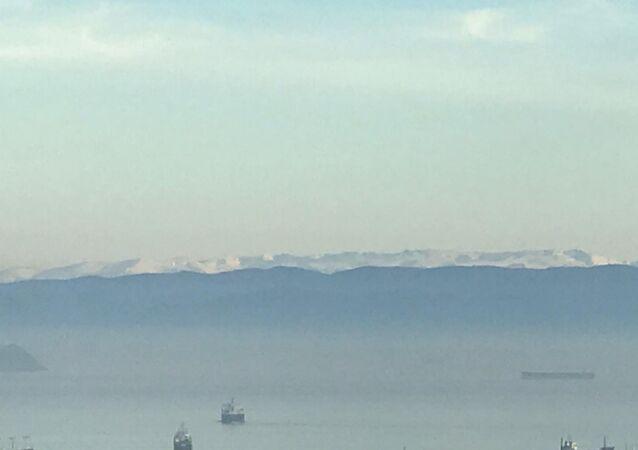 İstanbul'dan Uludağ manzarası izlendi