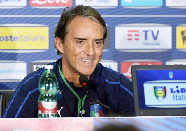 İtalya Milli Takımının Teknik Direktörü Roberto Mancini