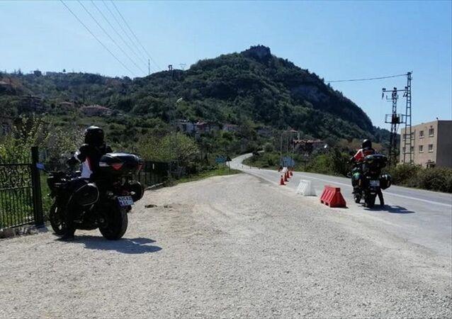 Konya'dan Kastamonu'ya izinsiz giden 3 motosiklet sürücüsüne ceza