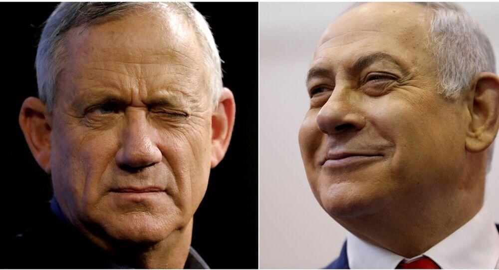 Benyamin Netanyahu ile Mavi-Beyaz İttifakı lideri Benny Gantz