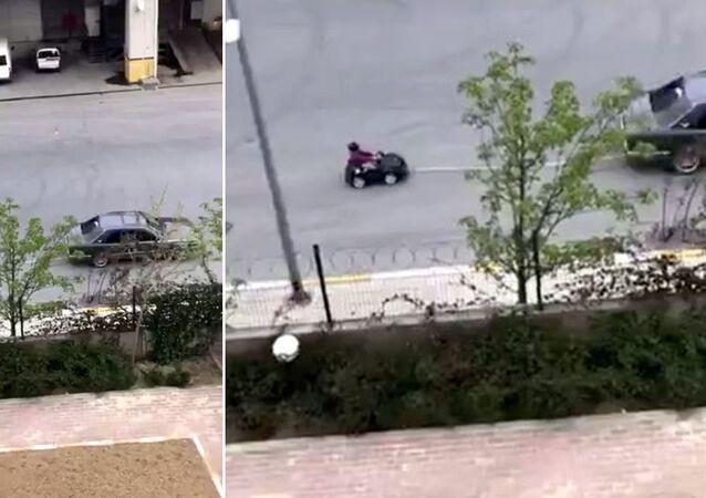 Akülü araçtaki çocuğunu otomobille çeken baba adli kontrol şartıyla serbest bırakıldı