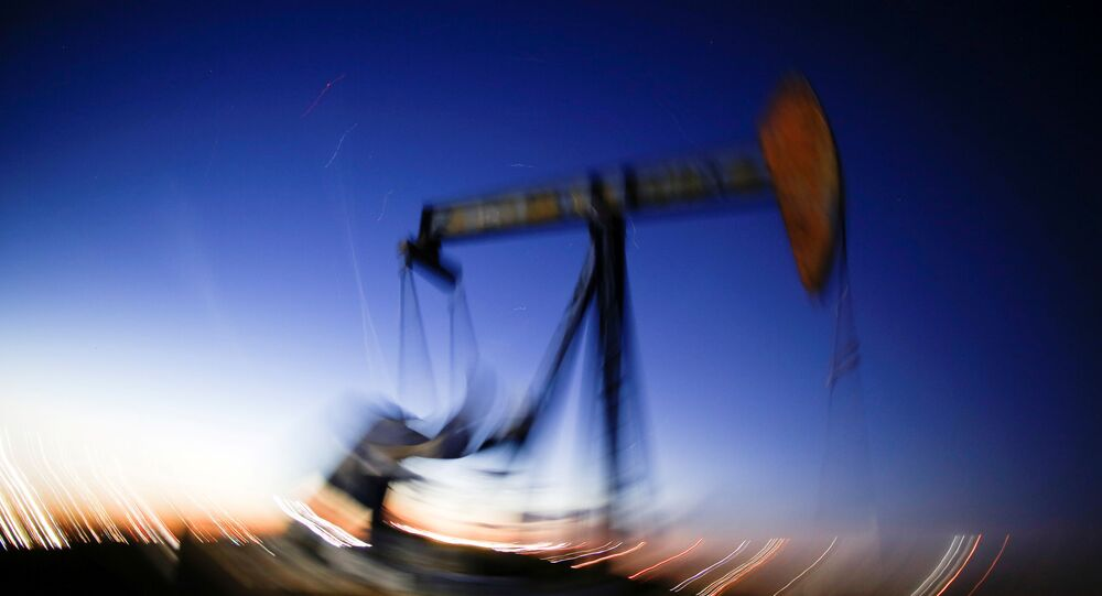 ABD'nin Teksas eyaletinde ham petrol çıkaran bir pompa
