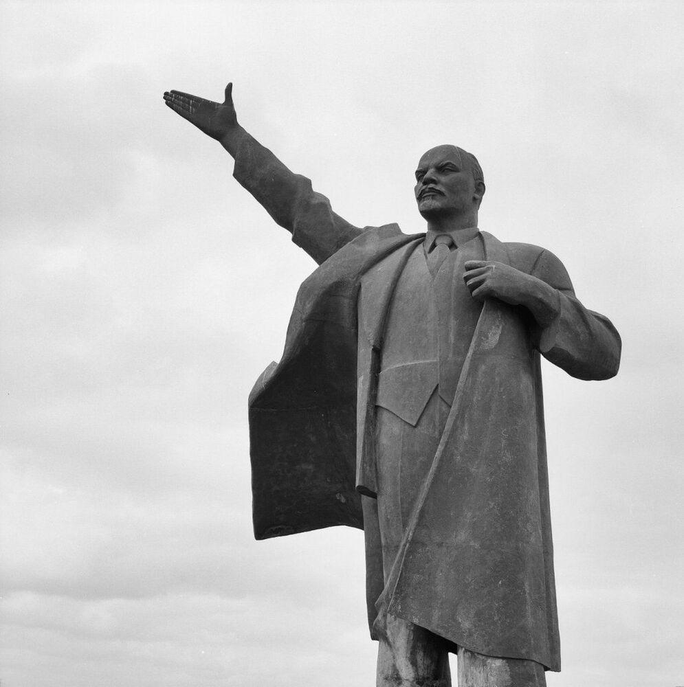 Hollanda'nın Groningen kentindeki Lenin heykeli.