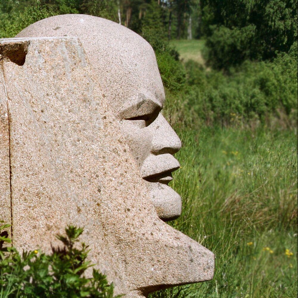 Litvanya'nın İvande kentindeki Lenin heykelinin bir parçası.
