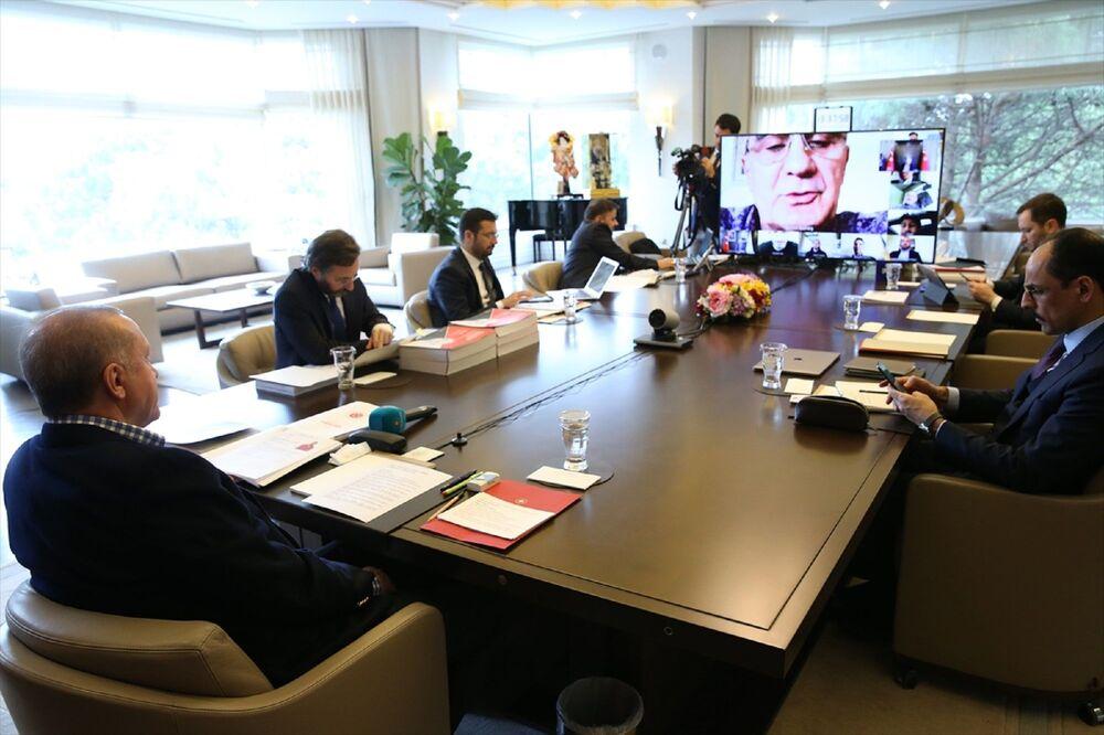 Gençlik ve Spor Bakanı Dr. Mehmet Muharrem Kasapoğlu da görüşmeye katıldı.