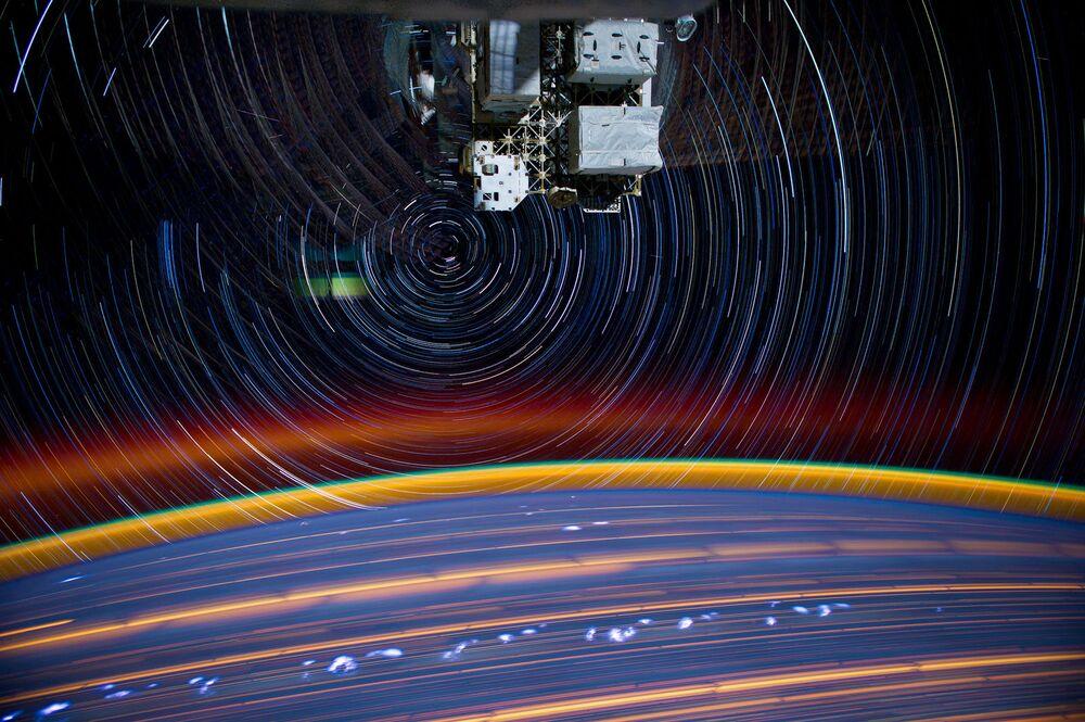 Uluslararası Uzay İstasyonu'ndan çekilen Dünya görüntüsü