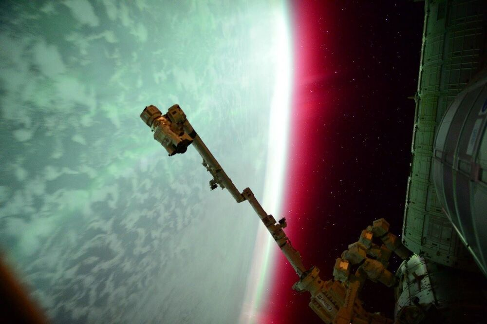 UUİ'den görüntülenen Kutup ışıkları