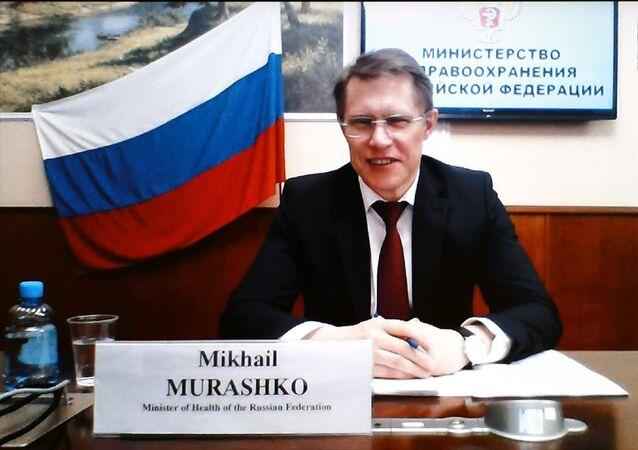 Sağlık Bakanı Fahrettin Koca, Rusya Sağlık Bakanı Mihail Muraşko ile video konferans yöntemiyle görüştü.