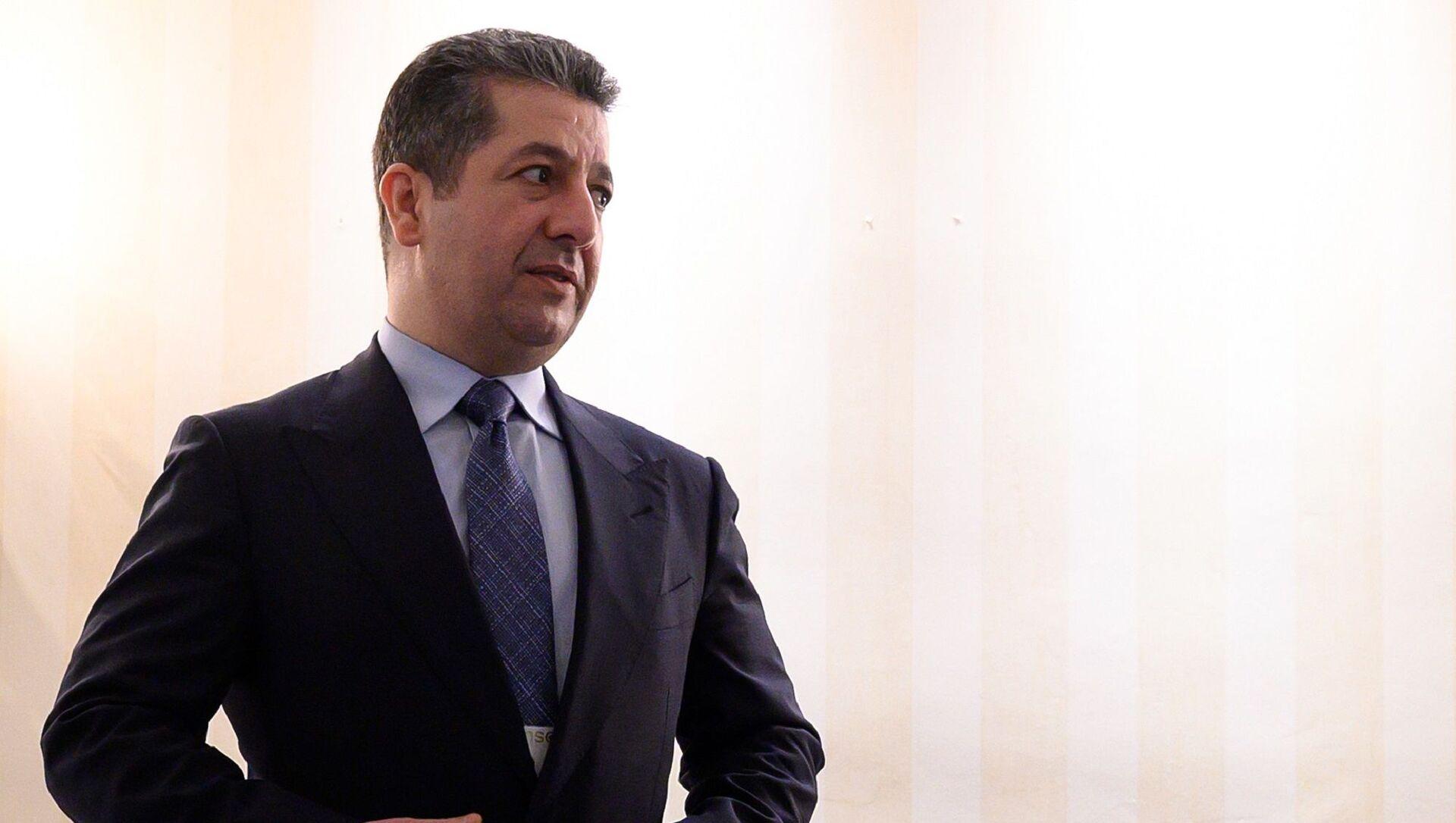 Irak Kürt Bölgesel Yönetimi (IKBY) Başbakanı Mesrur Barzani - Sputnik Türkiye, 1920, 15.04.2021