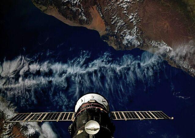 Uluslararası Uzay İstasyonu'na kenetlenmiş Progress MS-13 kargo uzay aracı, Yemen üzerinden uçarken