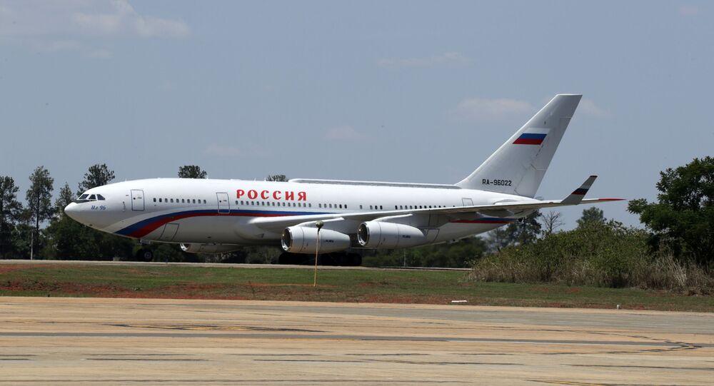 Rusya Devlet Başkanı Vladimir Putin'in uçağı Brezilya'da.