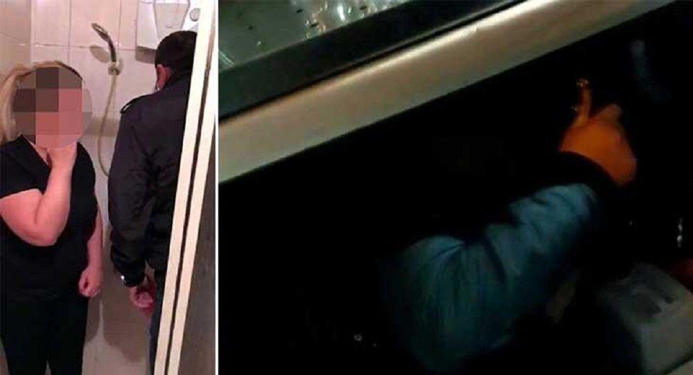 Polisten kaçan çift duşakabinde bir kişi ise mutfak lavabosunun altında bulundu