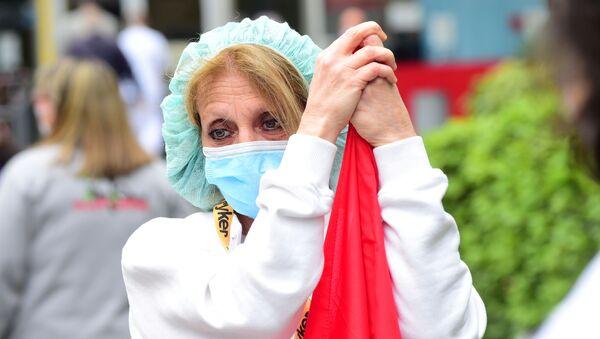 İtalya'da koronavirüs, İtalya'da ekipman eksiği sebebiyle protesto - Sputnik Türkiye
