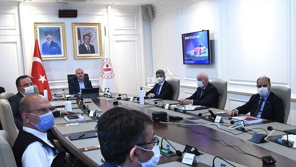 İçişleri Bakanı Süleyman Soylu'nun başkanlığında video konferans yöntemiyle Güneydoğu Anadolu Bölgesi Güvenlik Toplantısı gerçekleştirildi. - Sputnik Türkiye
