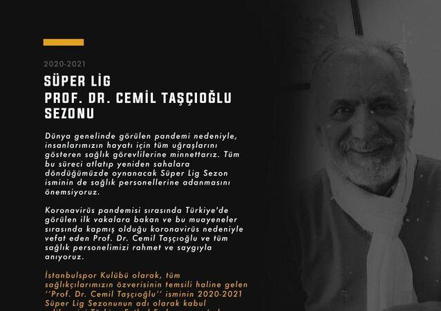 İstanbulspor, Süper Lig'de yeni sezonun Prof. Dr. Cemil Taşcıoğlu ismiyle oynanmasını talep etti