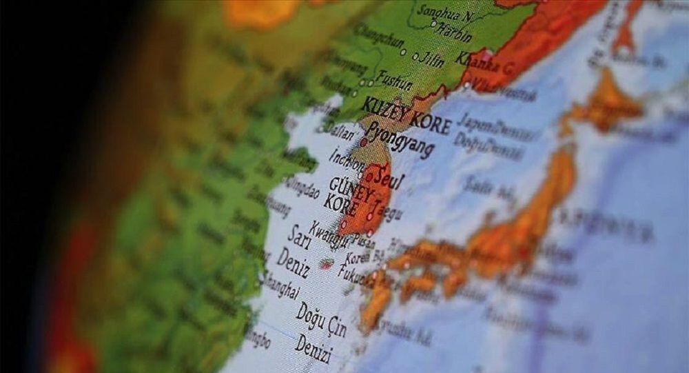 Haritada Güney Kore ve Kuzey Kore