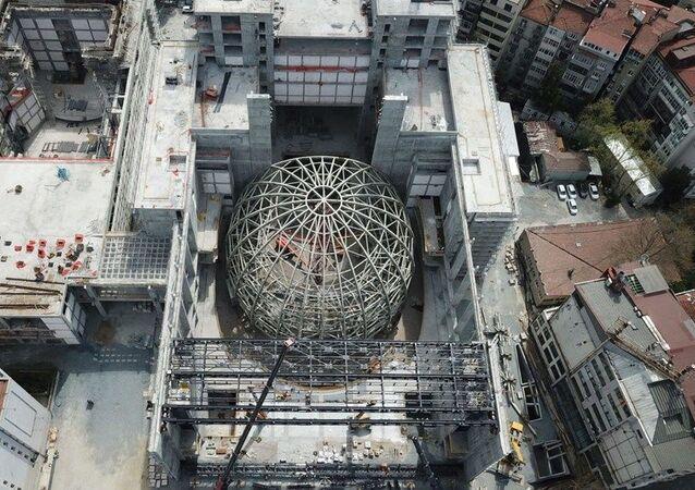 Yeni Atatürk Kültür Merkezi inşaatı