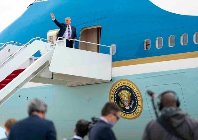 ABD Başkanı Trump Koronavirüs salgını nedeniyle yaklaşık iki aydır ara verdiği seyahatlerine bugün yeniden başladı