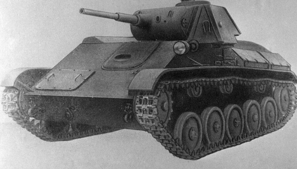 Sovyet yapımı T-70 hafif tankının resmi