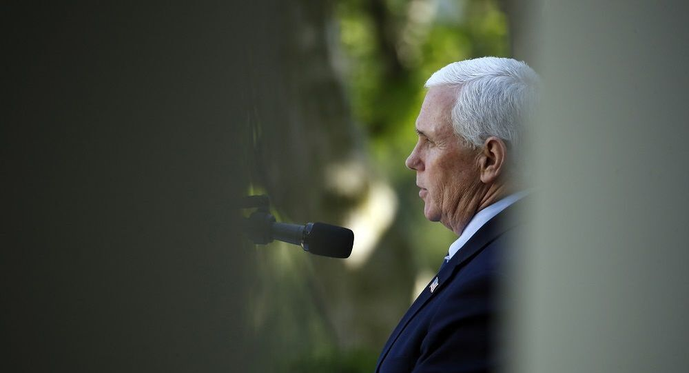Vice President Mike Pence speaks during a White House National Day of Prayer Service in the Rose Garden of the White House, Thursday, May 7, 2020, in Washington. (AP Photo/Alex Brandon)