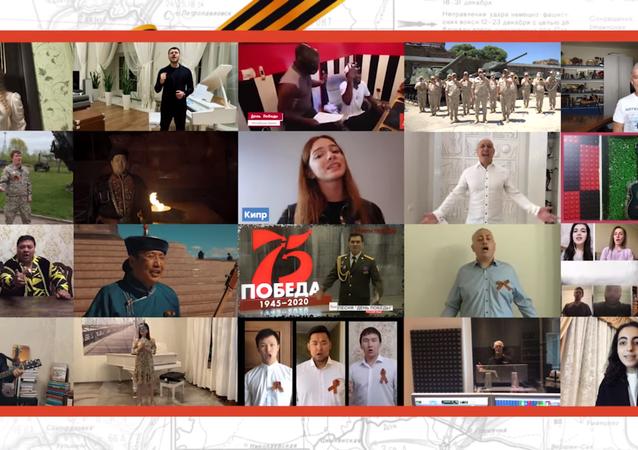 Sınır tanımayan şarkı: 60 ülkenin vatandaşları 'Zafer Günü'nü söyledi