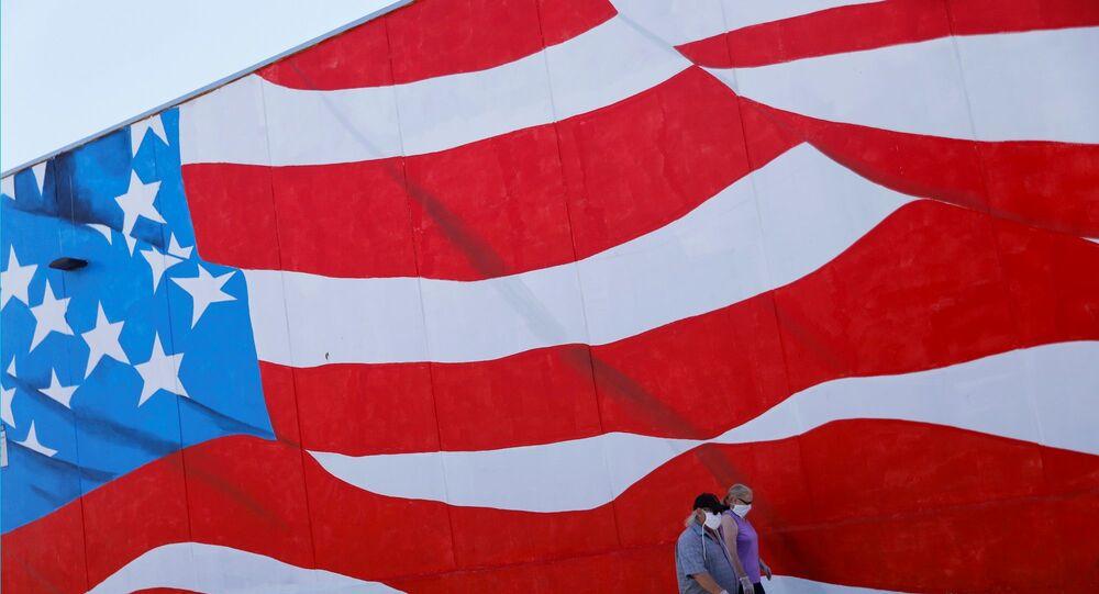 ABD bayrağı - maske