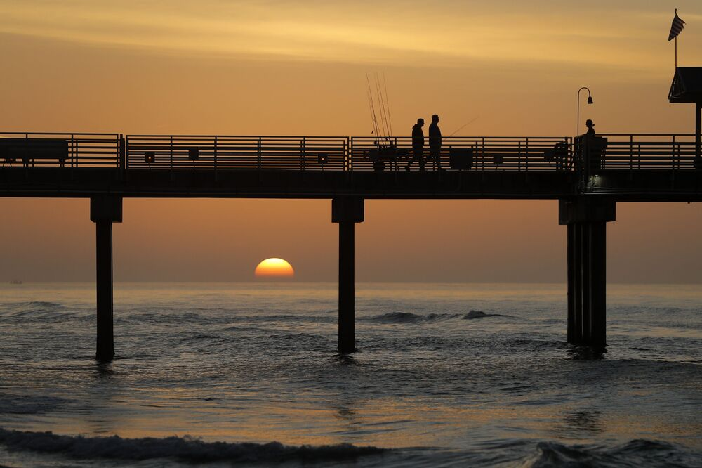 ABD'nin Orange Beach kentinde görüntülenen gün doğumu