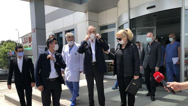 Galatasaray Başkanı Mustafa Cengiz, 7 Mayıs'ta geçirdiği ameliyatın ardından tedavi gördüğü hastaneden taburcu edildi. - Sputnik Türkiye